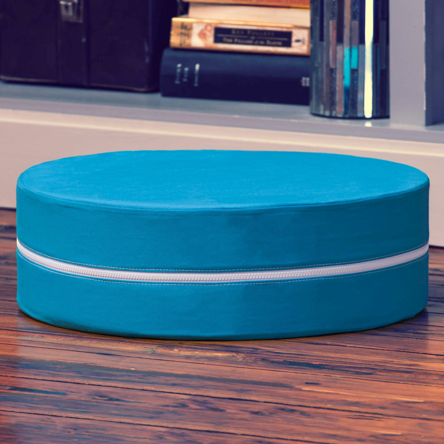 Round Floor Pillow Blue : Kirkwood Round Stackable Floor Pillow // Set of 3 (Blue) - Jaxx Indoor - Touch of Modern