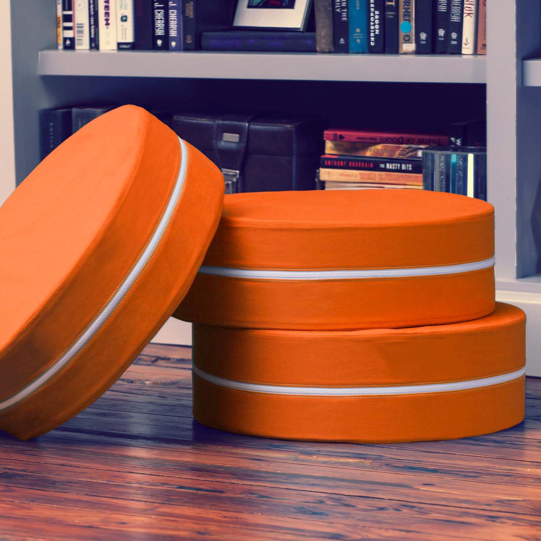 Kirkwood Round Stackable Floor Pillow // Set of 3 (Blue) - Jaxx Indoor - Touch of Modern