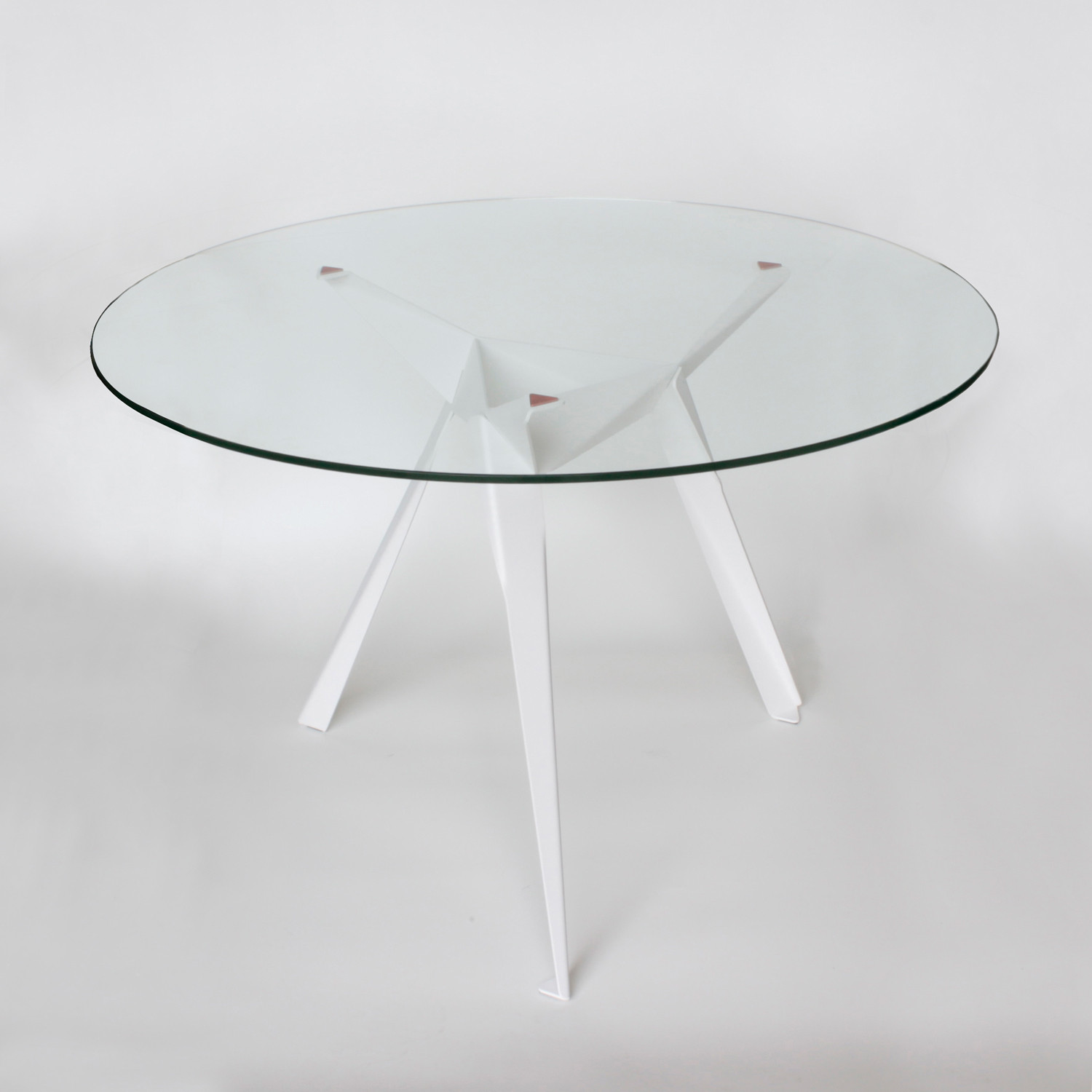 Origami Side Table // White Legs & Silver Pads