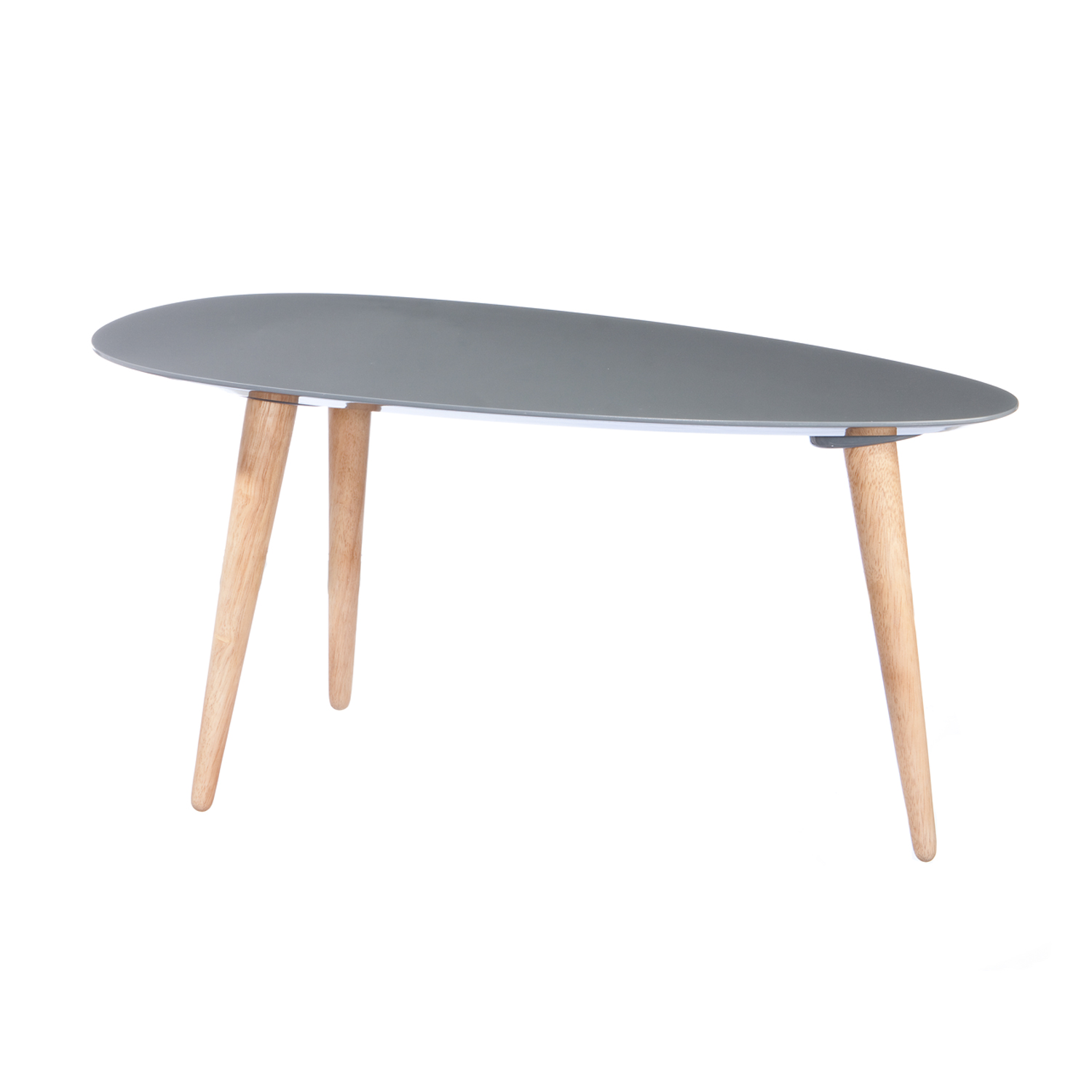 Egg Shaped Table large egg table (grey) - mili design nyc - touch of modern