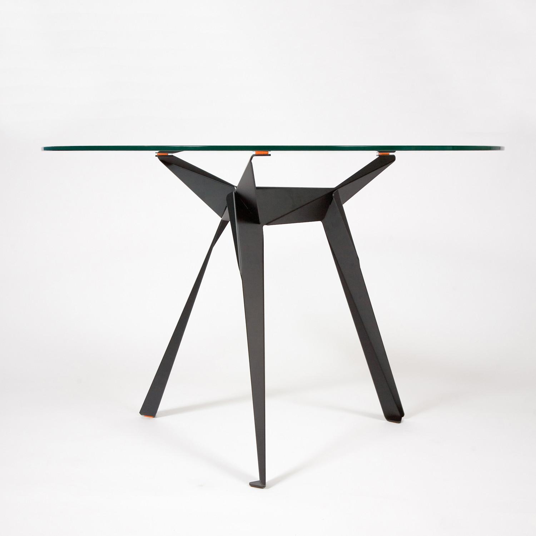 Origami Coffee Table (White Leg, Silver Pad)