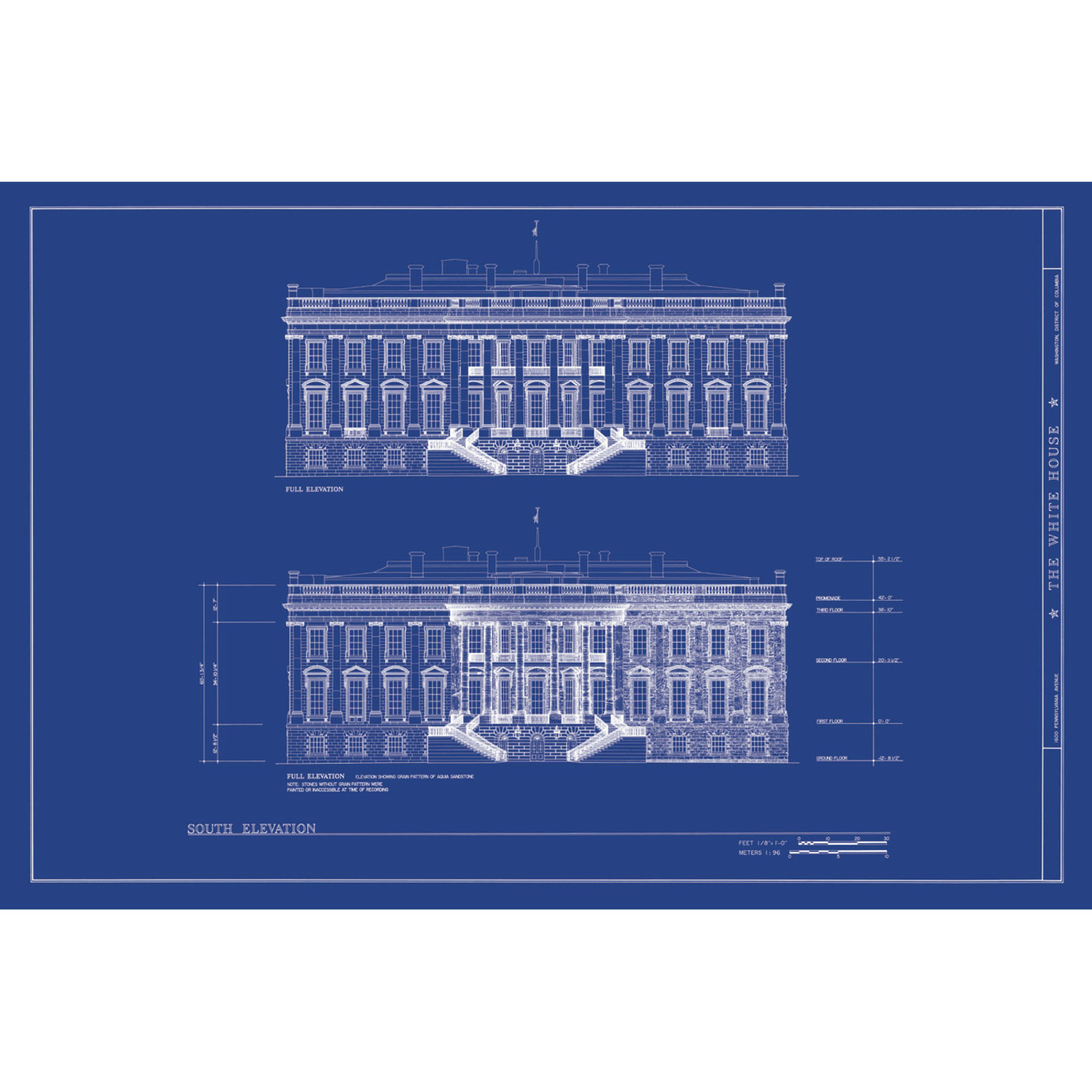the white house old blueprints touch of modern the white house