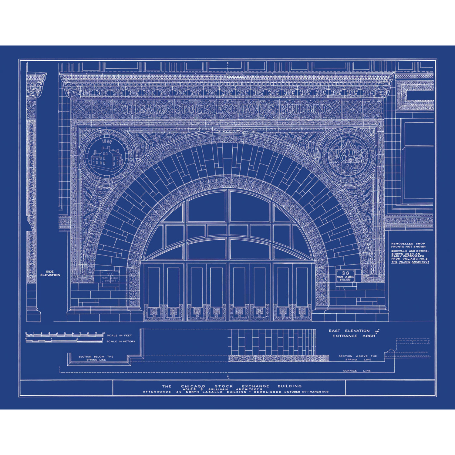 Louis Sullivan // Chicago Stock Exchange - Old Blueprints