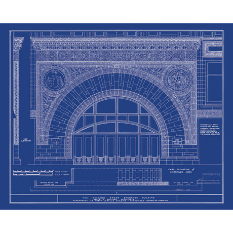 Old blueprints american architectural classics touch for Architecture blueprints free