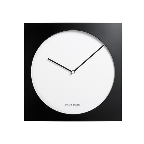 wall clock series black white jacob jensen wall. Black Bedroom Furniture Sets. Home Design Ideas