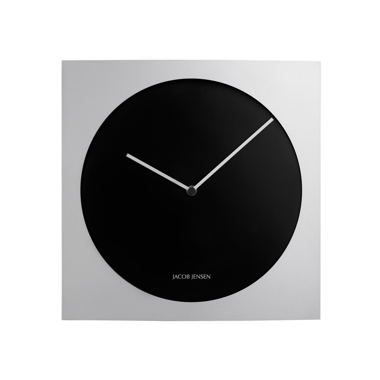 Wall clock series black aluminum jacob jensen wall for Touch of modern clock