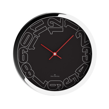 Oliver hemming wall clocks award winning design touch for Touch of modern clock