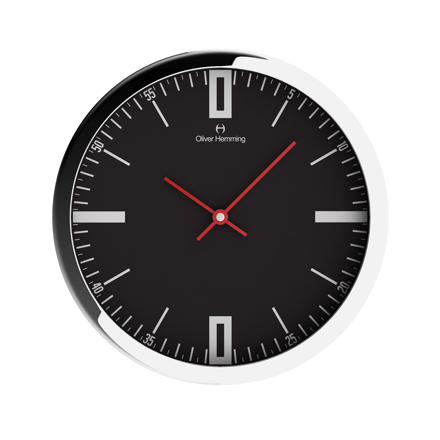 Chrome wall clock w303s45b oliver hemming wall clocks for Touch of modern clock