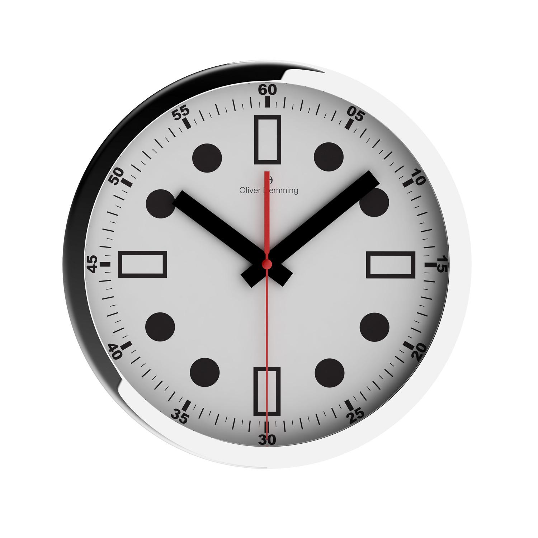 Chrome Wall Clock W303s44w Oliver Hemming Wall Clocks