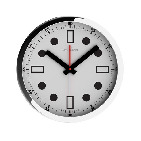 Chrome Wall Clock // W303S44W