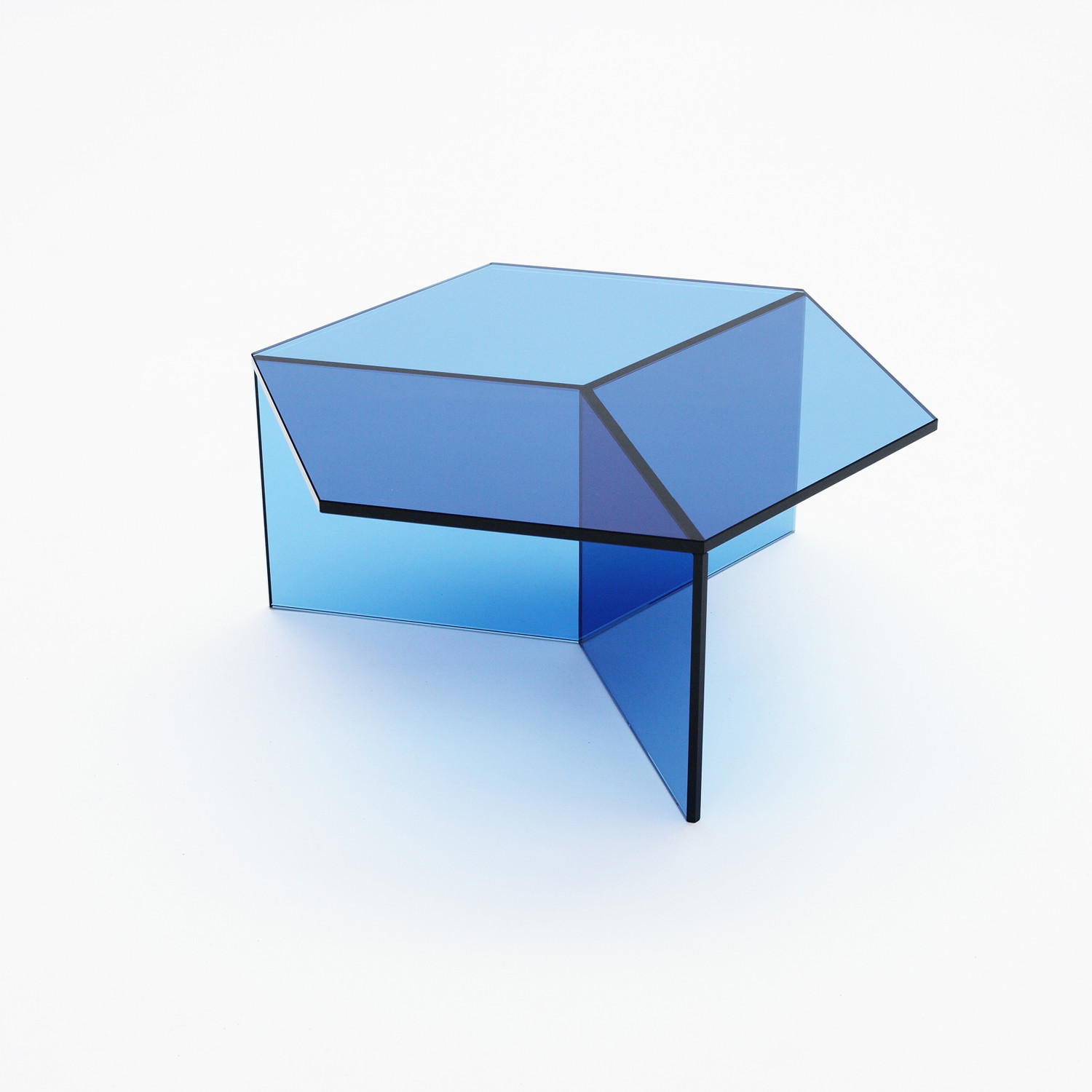 Isom Glass Table // Blue