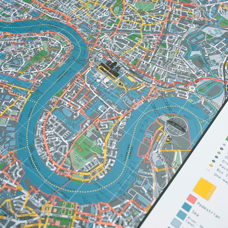 london street map version 2 paper