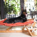 bamboo hammock    medium  berry blue  bamboo hammock    medium  berry blue    pet lounge studio   touch      rh   touchofmodern