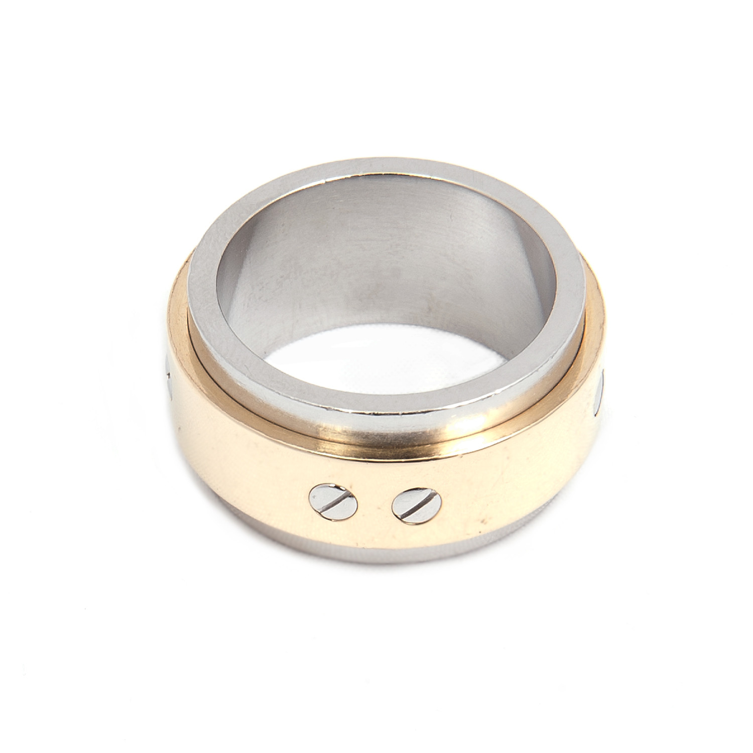 cartier mens love ring in 18k yellow gold steel size