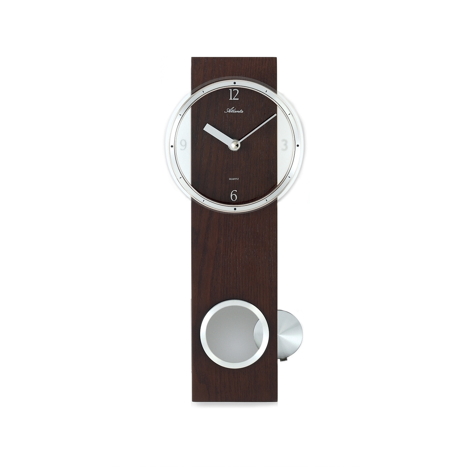 Pendulum wall clock brown atlanta by paragon touch of modern - Stylish pendulum wall clock ...
