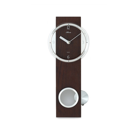pendulum wall clock brown atlanta by paragon touch