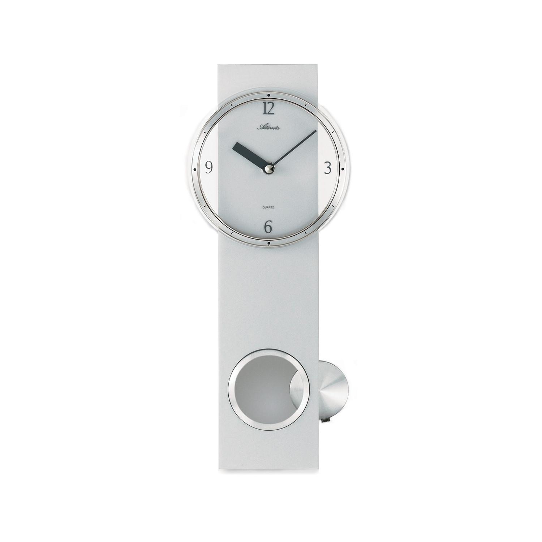 pendulum wall clock silver - Pendulum Wall Clock
