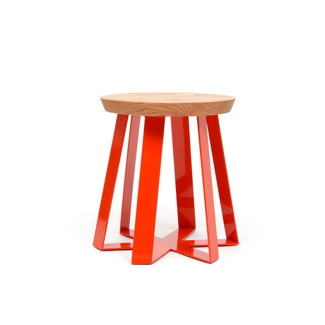 ARS Stool // Oak (Orange)