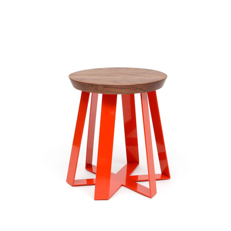 ARS Stool // Walnut (Orange + Walnut)