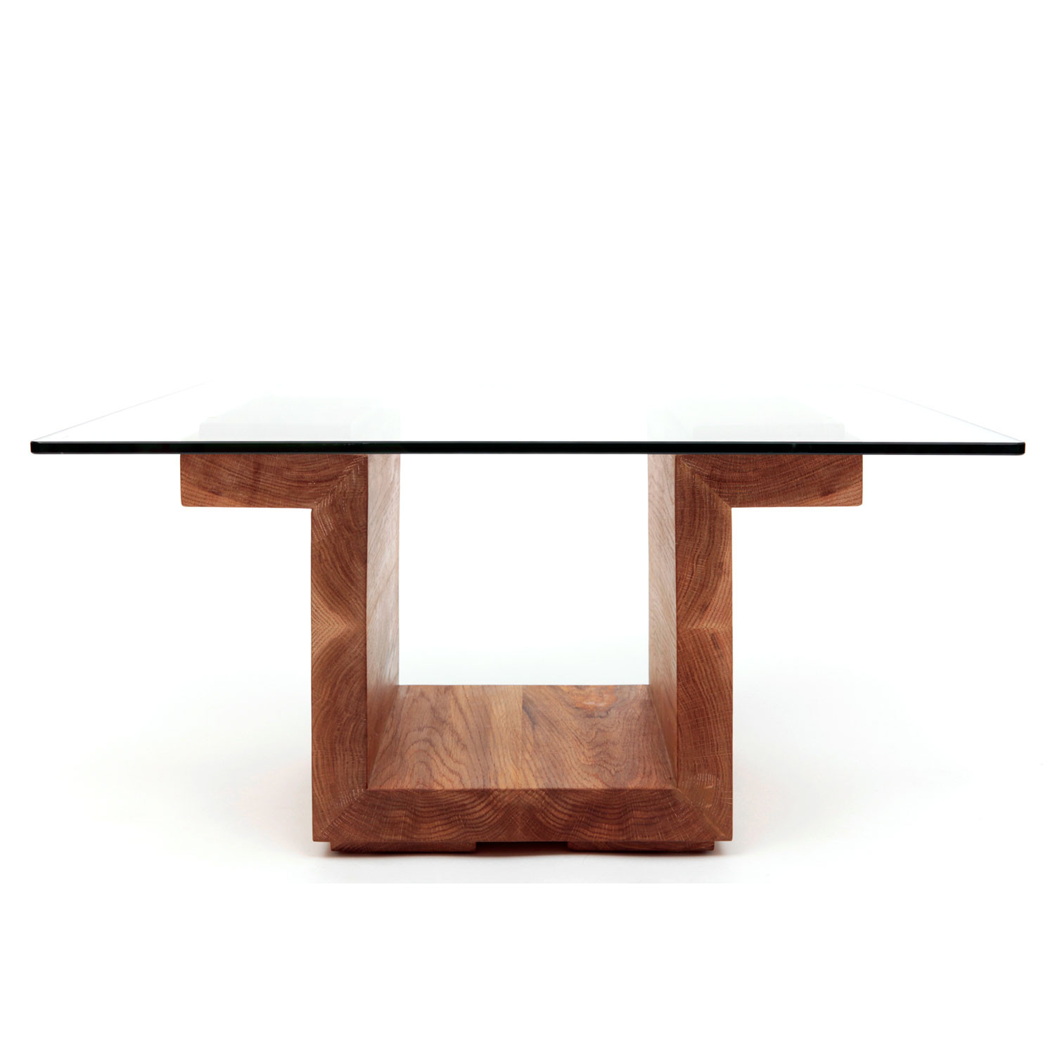 SQG Glass Top Table // White Oak (Small: 30 L X 22 W Top) Artless . Full resolution‎  portraiture, nominally Width 1500 Height 1500 pixels, portraiture with #773C2A.