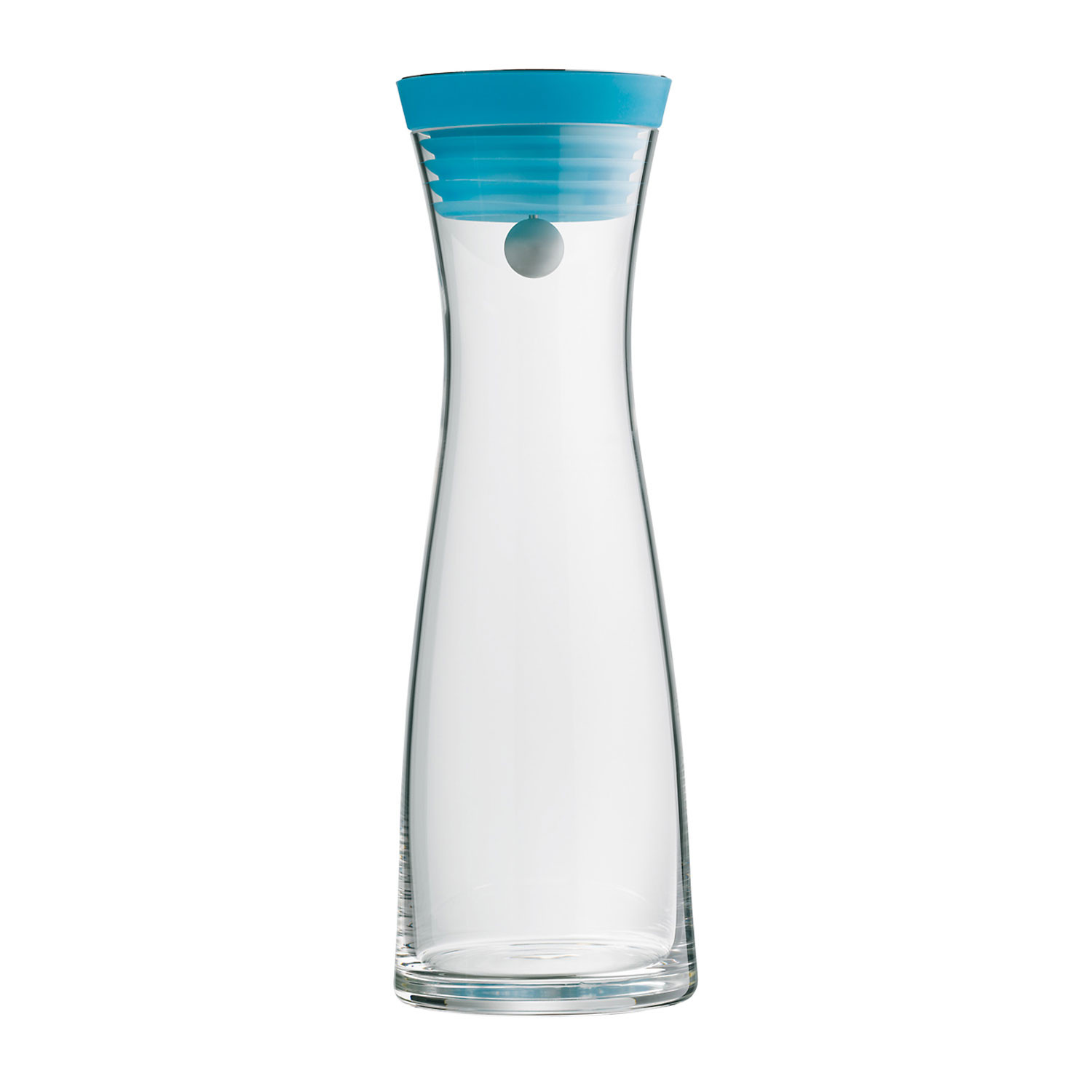 water carafe w blue top  wmf tabletop  touch of modern - water carafe w blue top