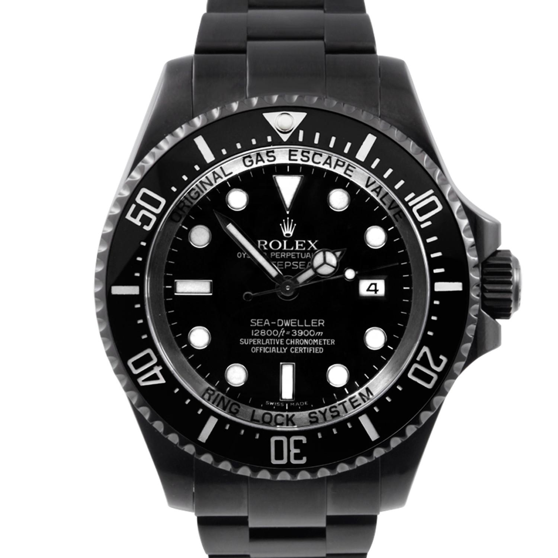 8cff2c7804b Rolex Sea-Dweller Deepsea w/ Custom DLC/PVD Coating - Custom Black ...