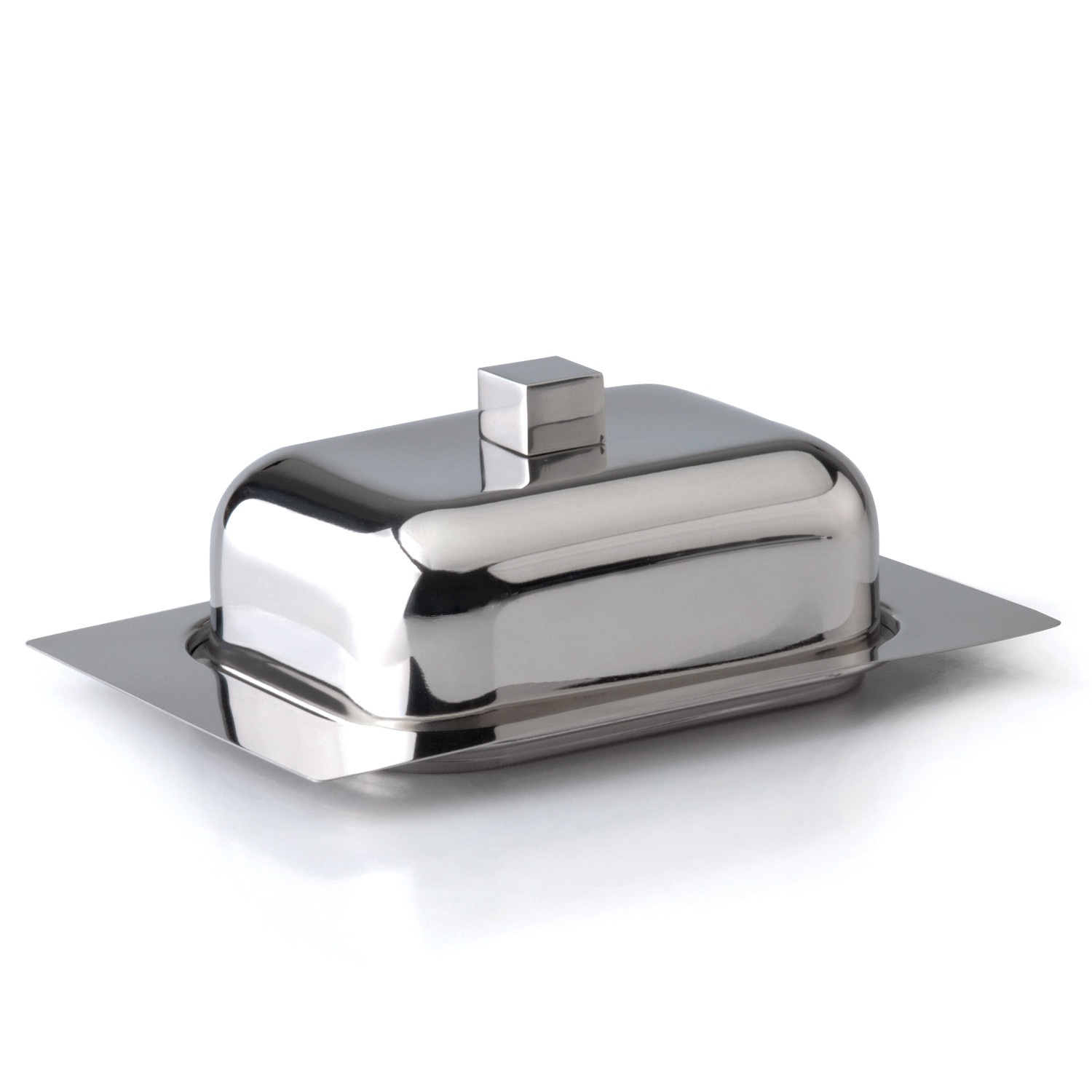 cubo stainless steel butter dish  berghoff  touch of modern - cubo stainless steel butter dish