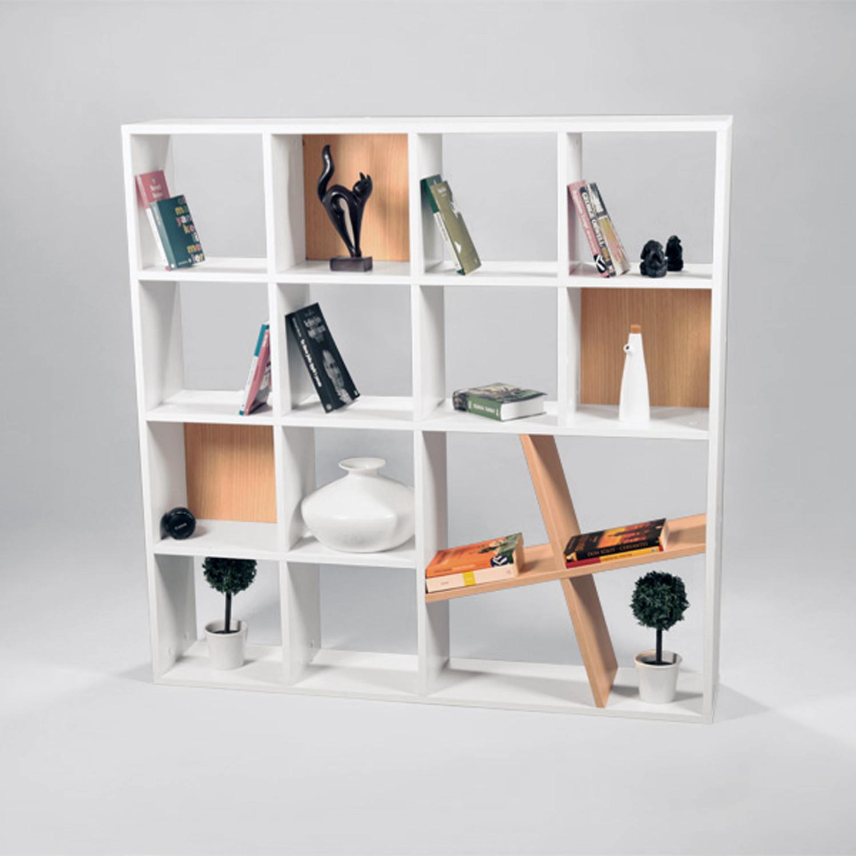 Honey Bookshelf White Wenge