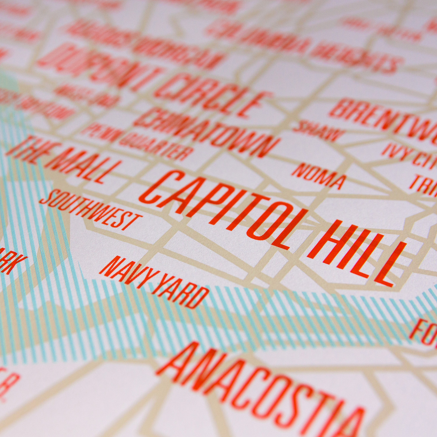 Maps Of Washington DC They Never Showed You In School Movoto - Washington dc hill map