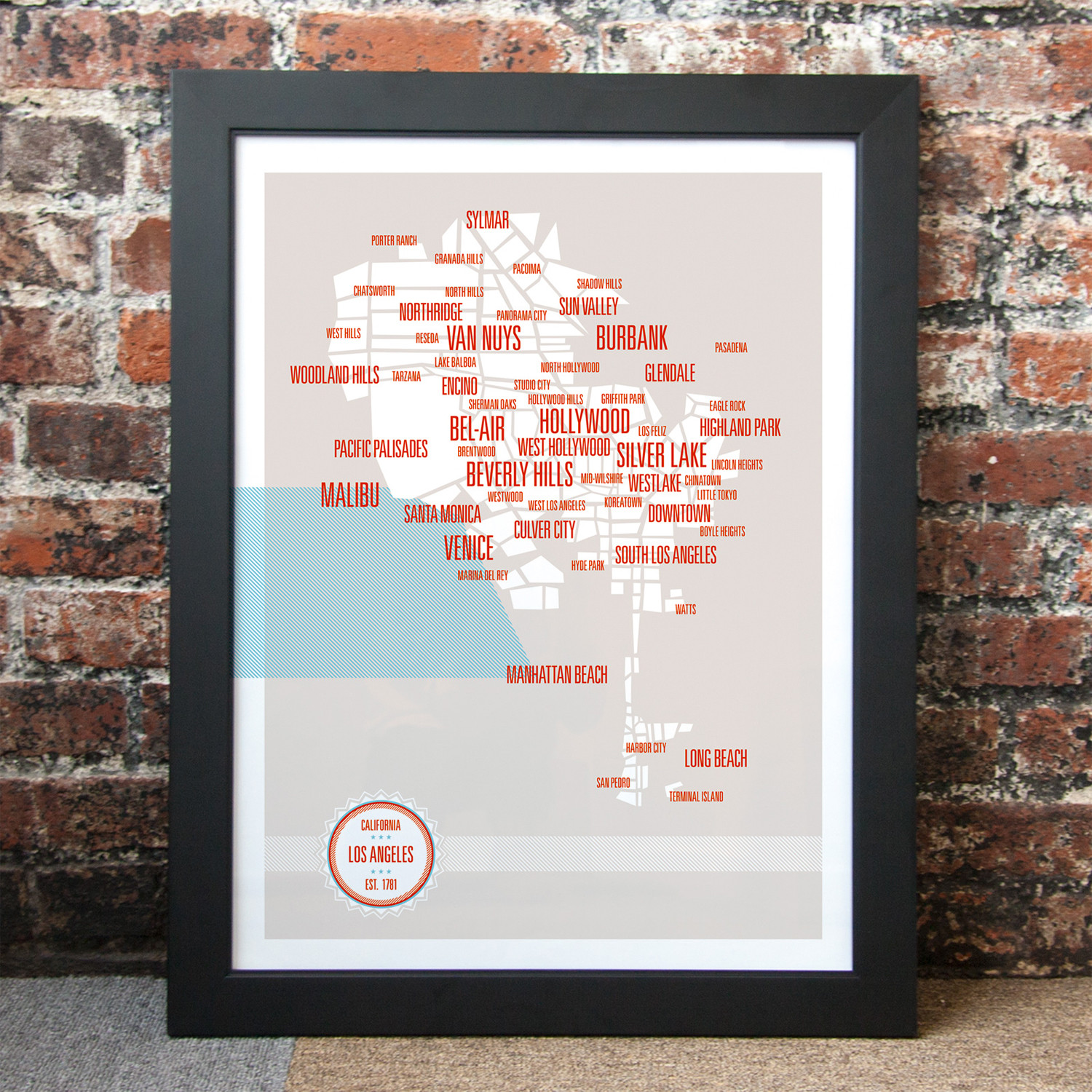 Los Angeles Neighborhoods Map These Are Things Touch Of Modern - Los angeles map by neighborhood