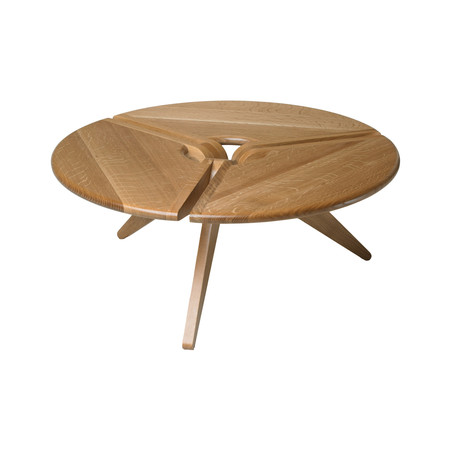 New breed furniture natural grain wood touch of modern for 34 inch round coffee table