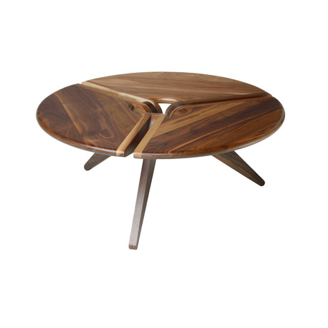 34 Inch Round Coffee Table 34 Round Coffee Table Walnut New Breed Furniture
