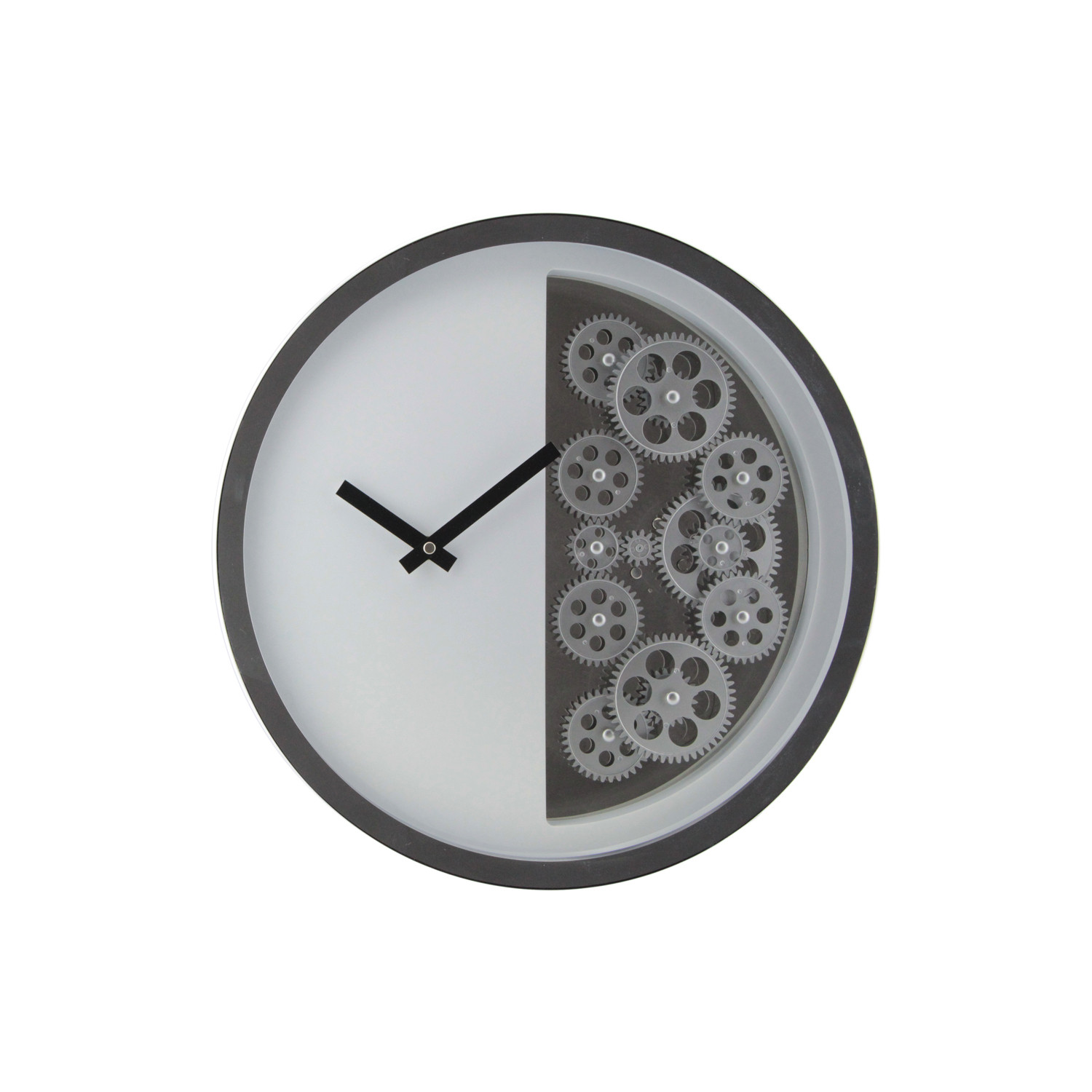 Half gear wall clock white gingko eco wall clocks for Touch of modern clock