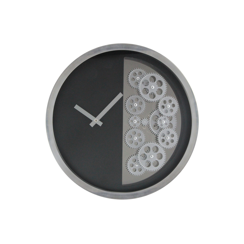 Half gear wall clock black gingko eco wall clocks for Touch of modern clock