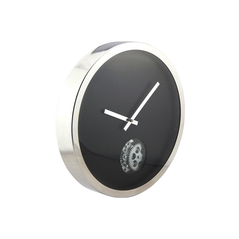 Circle gear wall clock black gingko eco wall clocks for Touch of modern clock