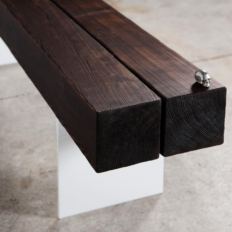 burnt bench john beck steel touch of modern. Black Bedroom Furniture Sets. Home Design Ideas