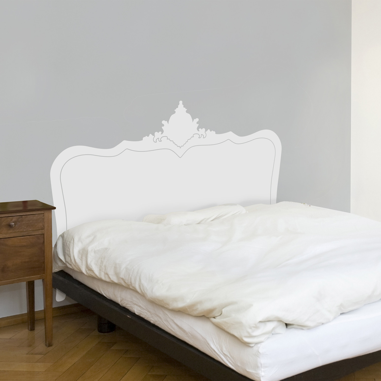 baroque headboard (white)  cama  touch of modern - baroque headboard (white)