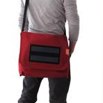 Solar Messenger Canvas Bag // Red