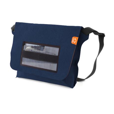 Solar Messenger Canvas Bag // Navy
