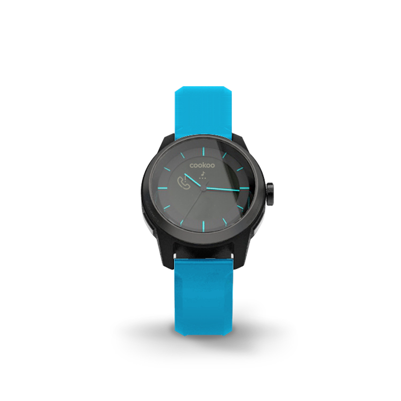 COOKOO Watch // Black on Blue - Cookoo Watch