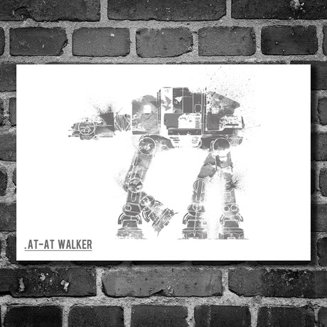 "Star Wars Vehicle // AT-AT Walker (16""W x 12""H)"