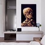 "Skull Of A Skeleton With Burning Cigarette, c. 1885-1886 // Vincent van Gogh (18""W x 26""H x 0.75""D)"
