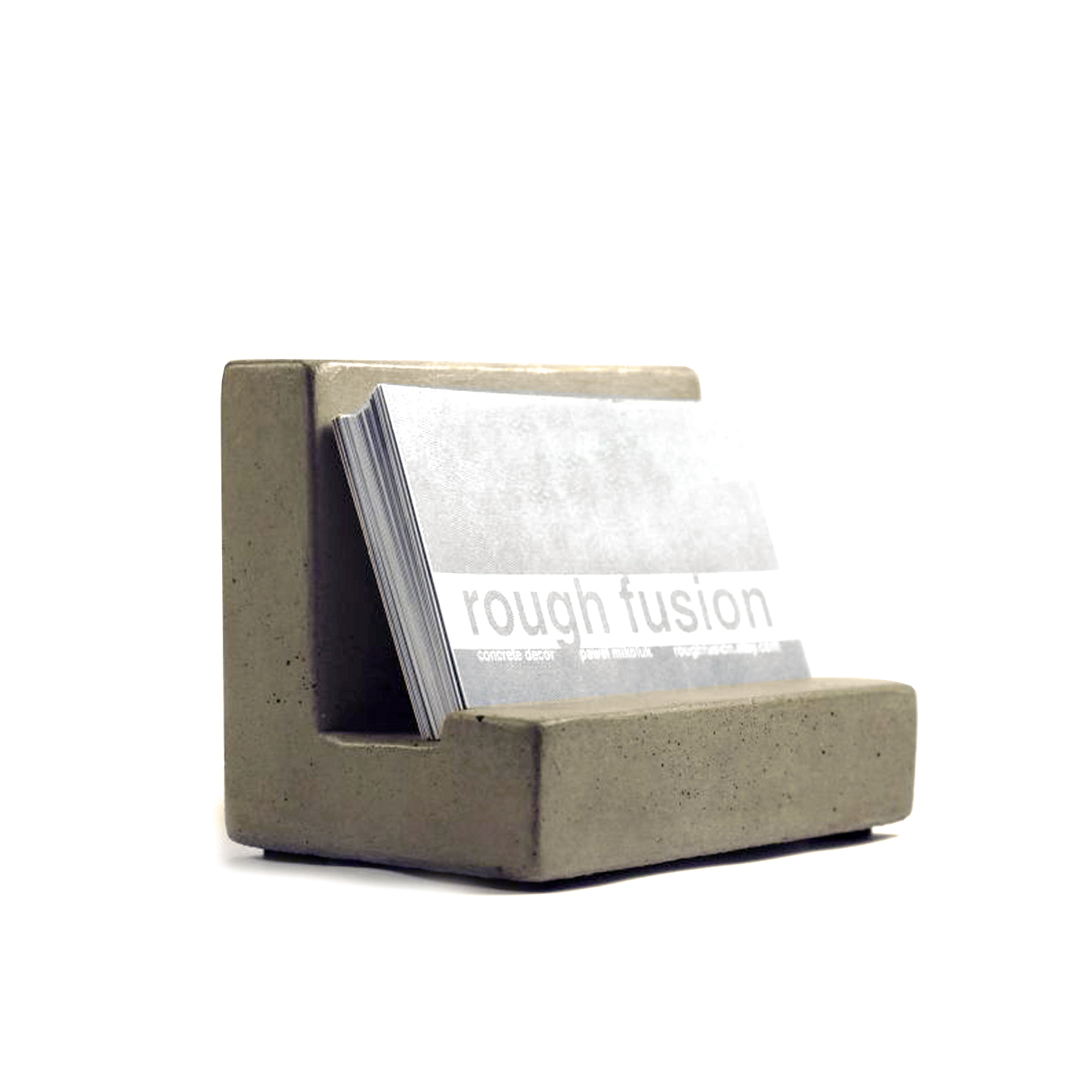 Concrete Business Card Holder (natural)  Rough Fusion  Touch Of Modern