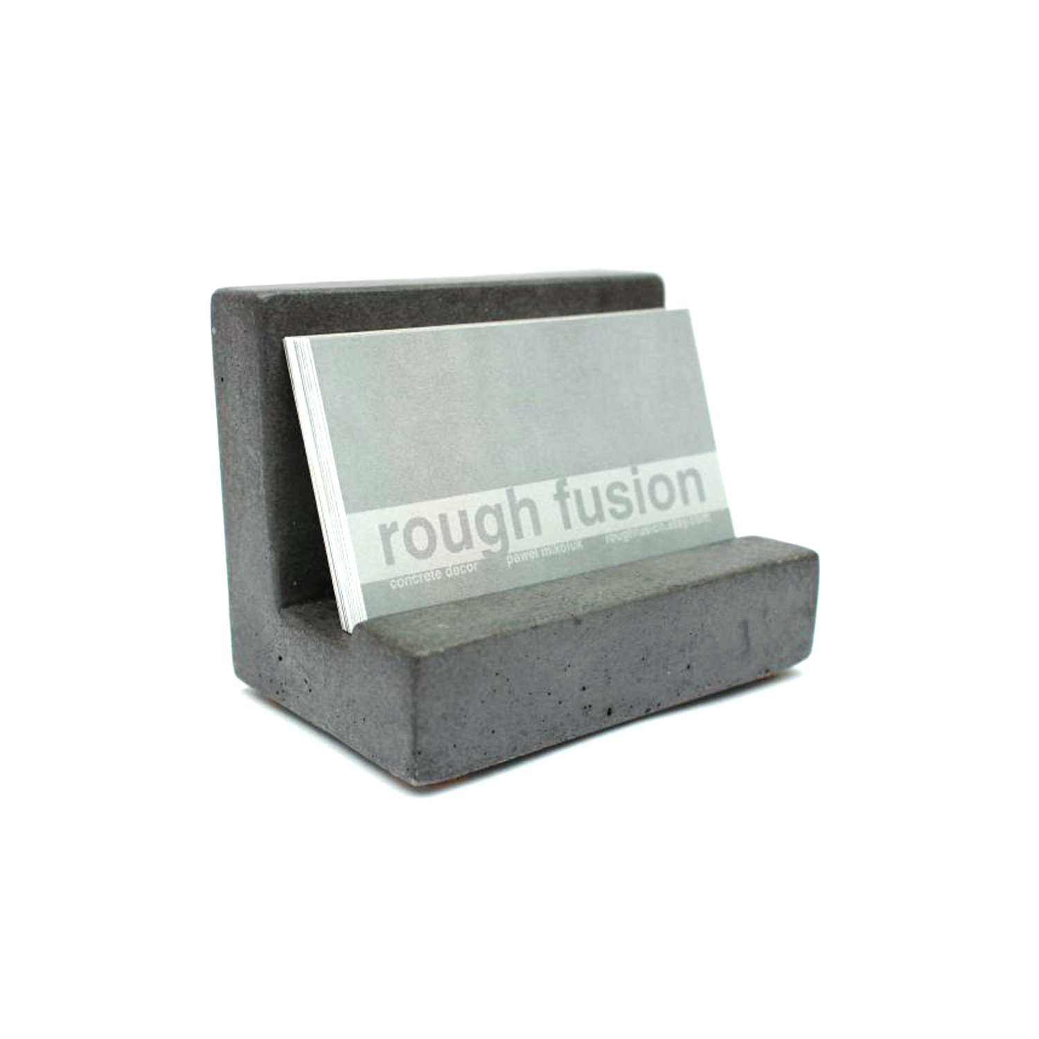 Concrete business card holder natural rough fusion touch of modern concrete business card holder natural colourmoves