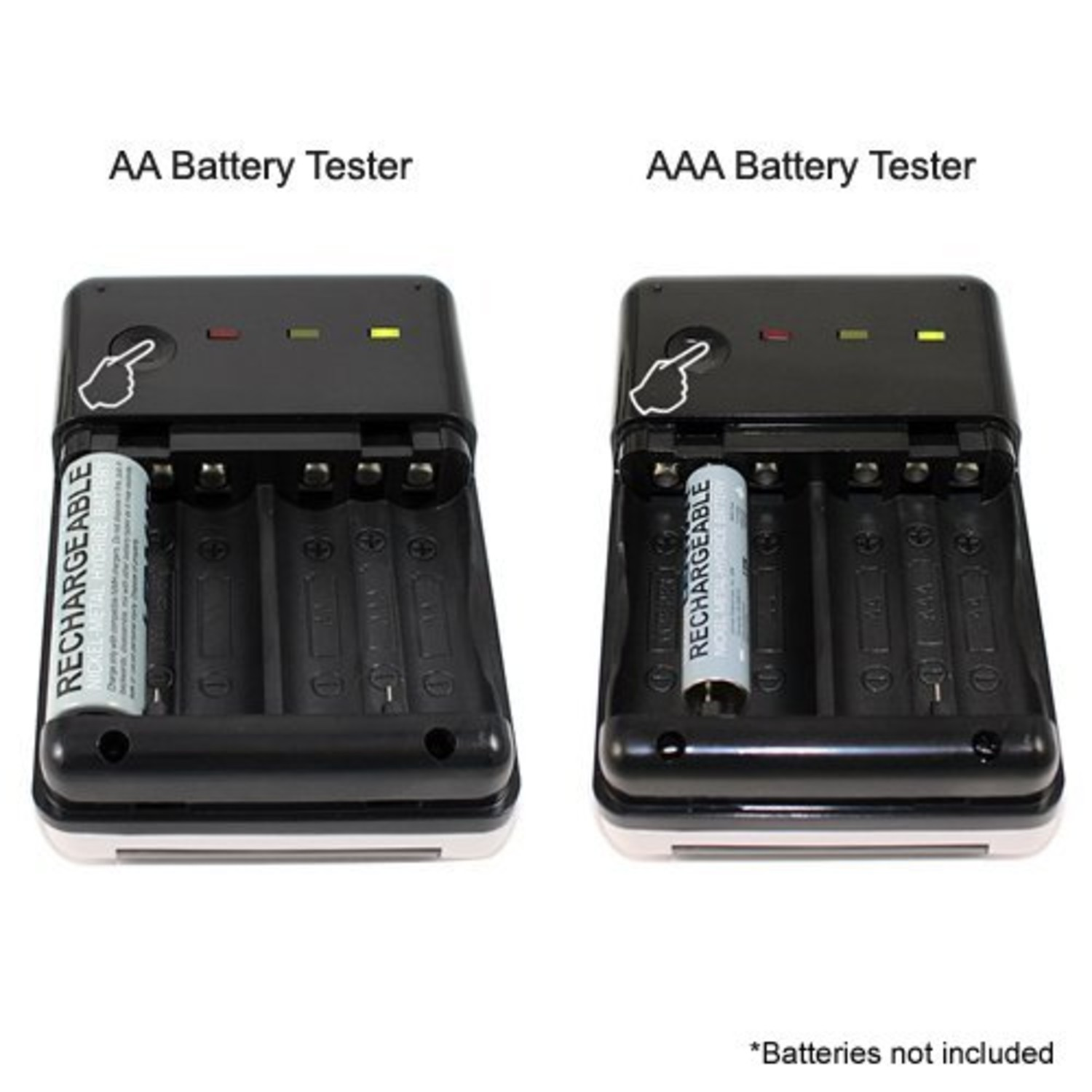xtg solar aa aaa battery charger and tester lenmar touch of modern. Black Bedroom Furniture Sets. Home Design Ideas