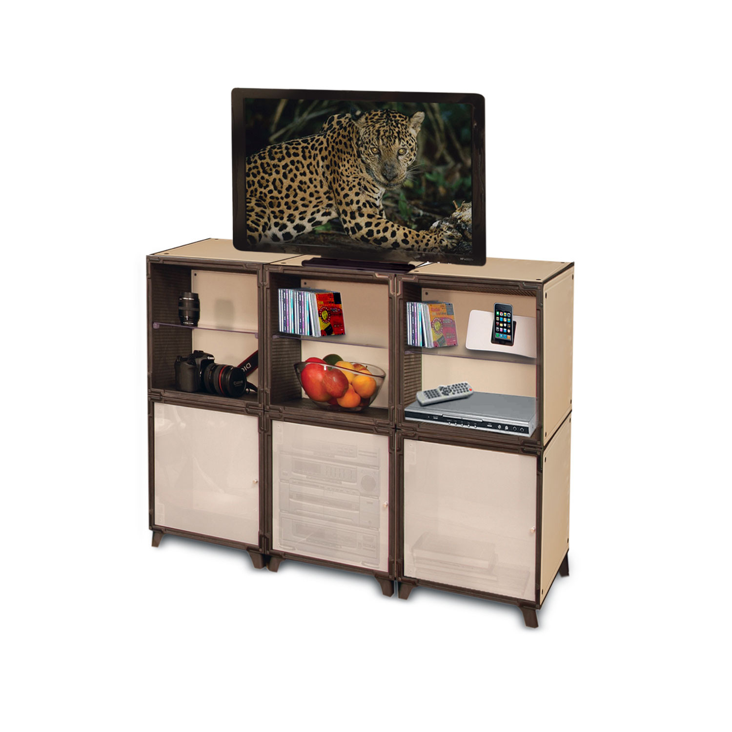 media storage stand original yube cube touch of modern