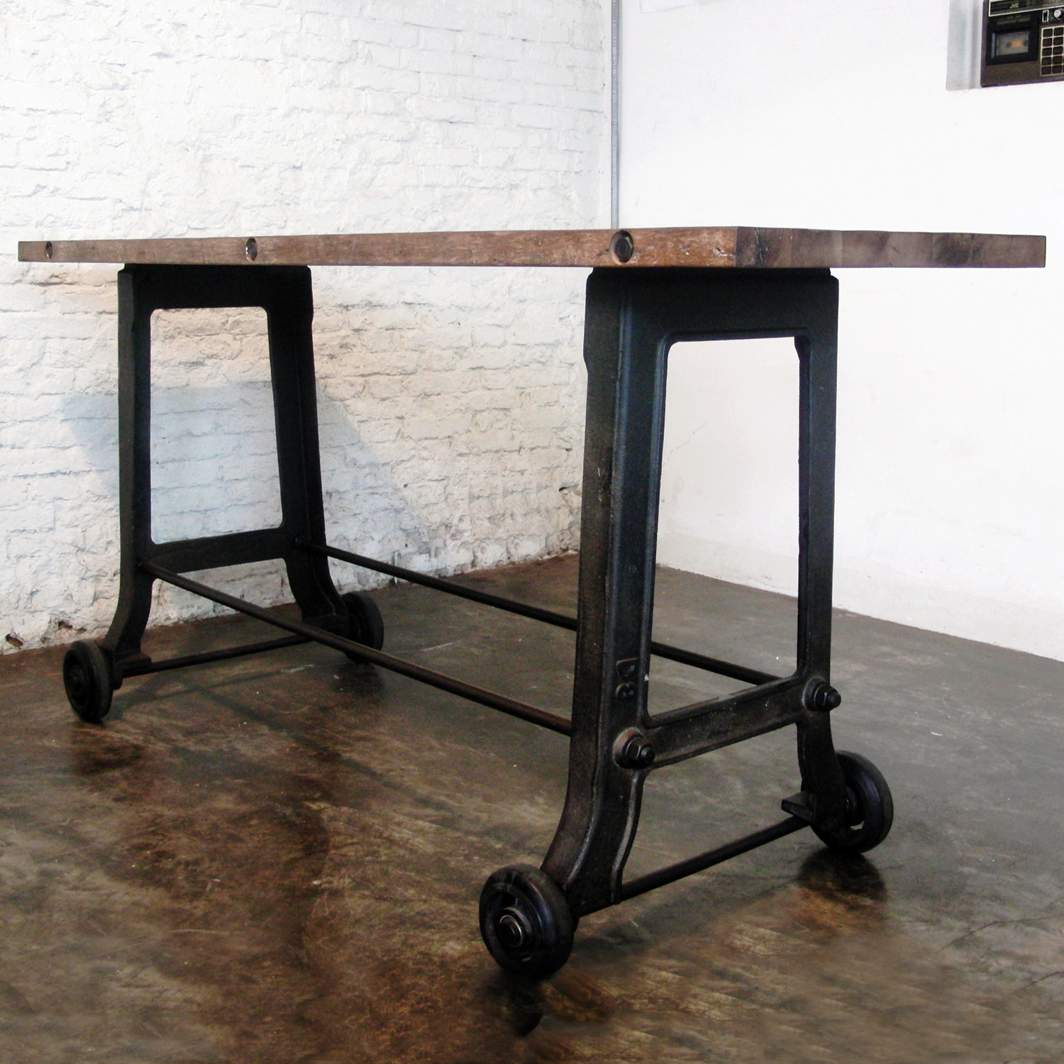 Castor Bar // Reclaimed Wood - Industrial Furniture - Touch ...
