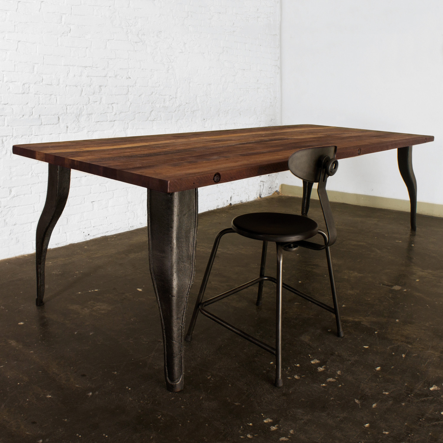 Rustic Dining Table Large Industrial Furniture Touch Of Modern