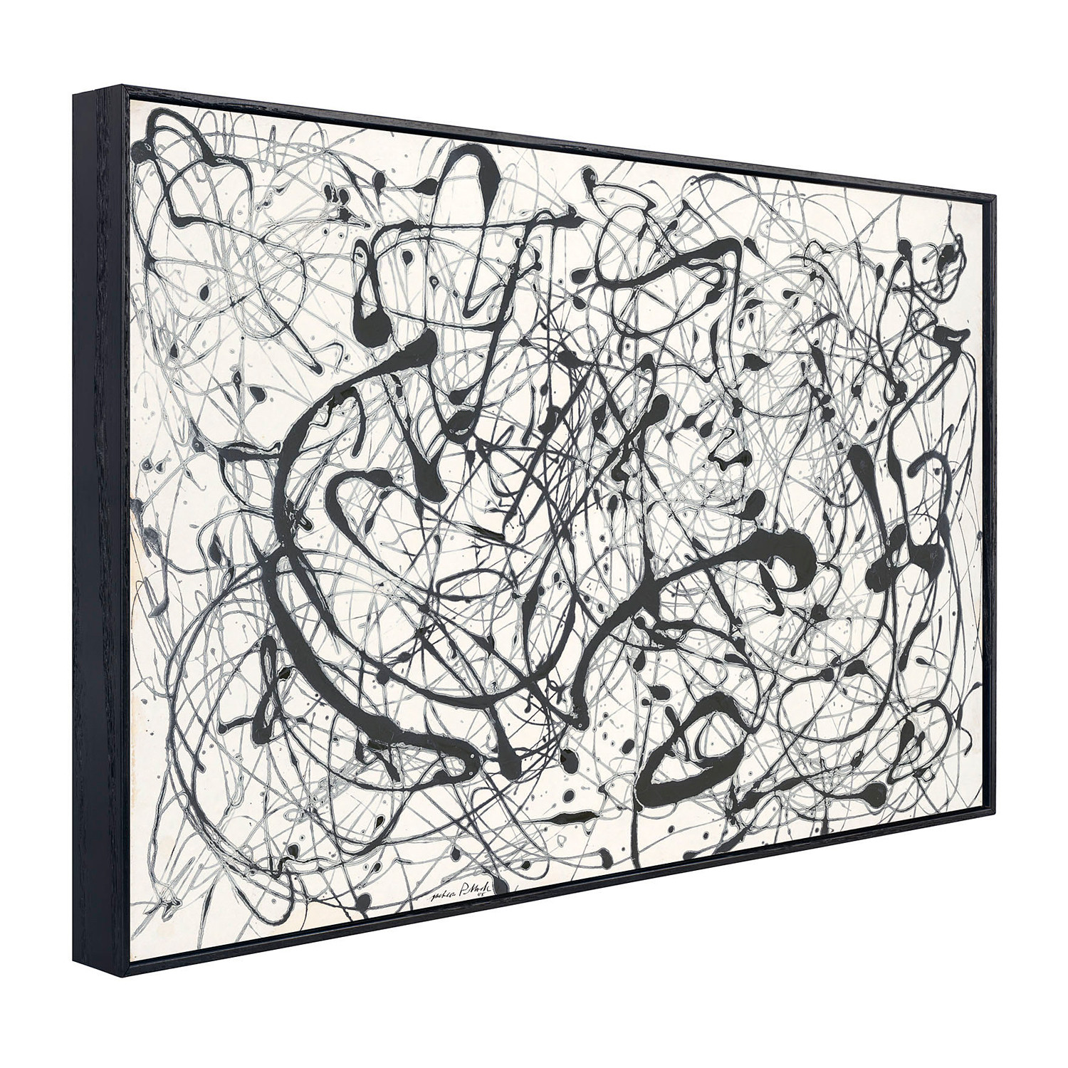 Number 14 gray pollock touch of modern for Jackson pollock coloring page