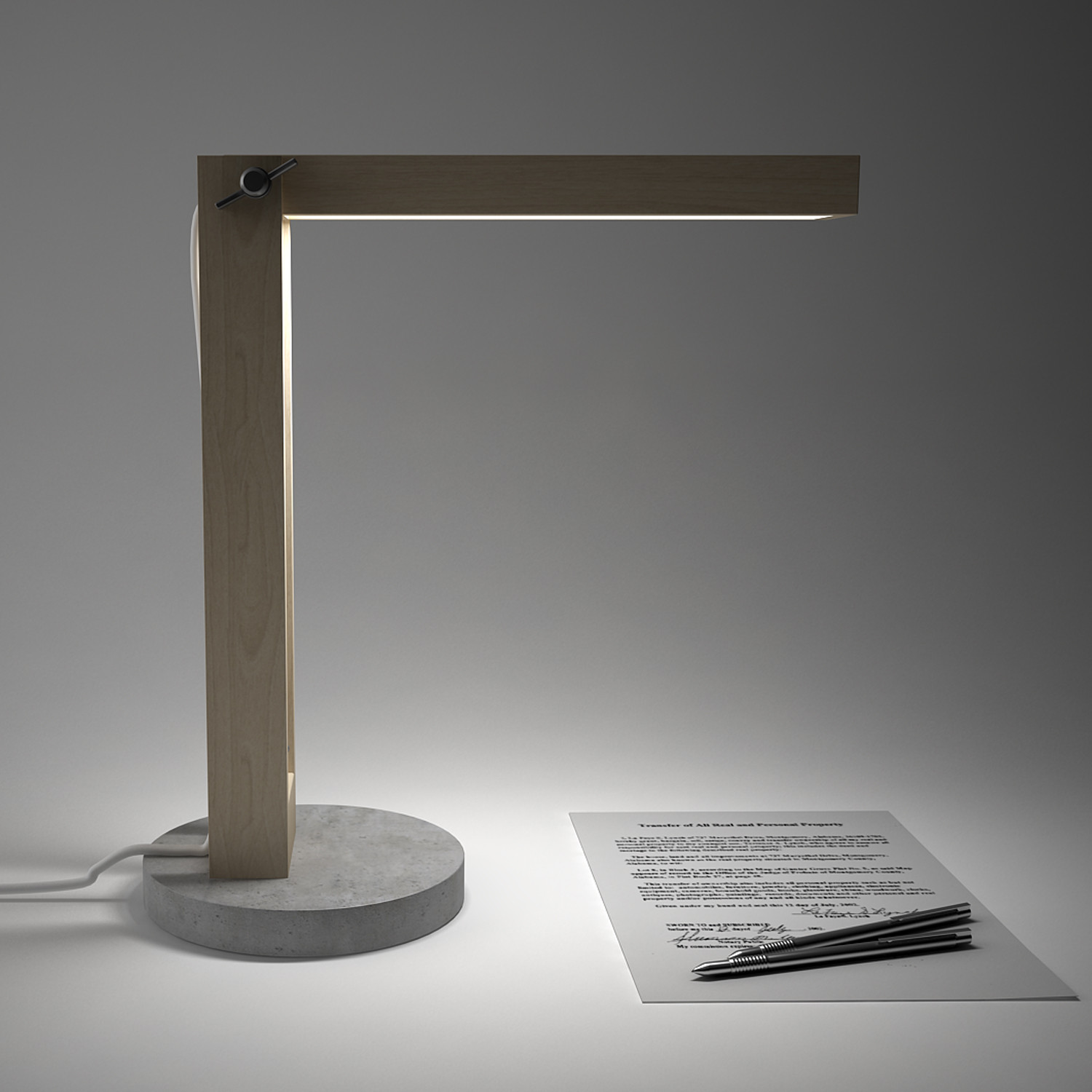 Wood and concrete lamp dime design touch of modern for Diy concrete lamp